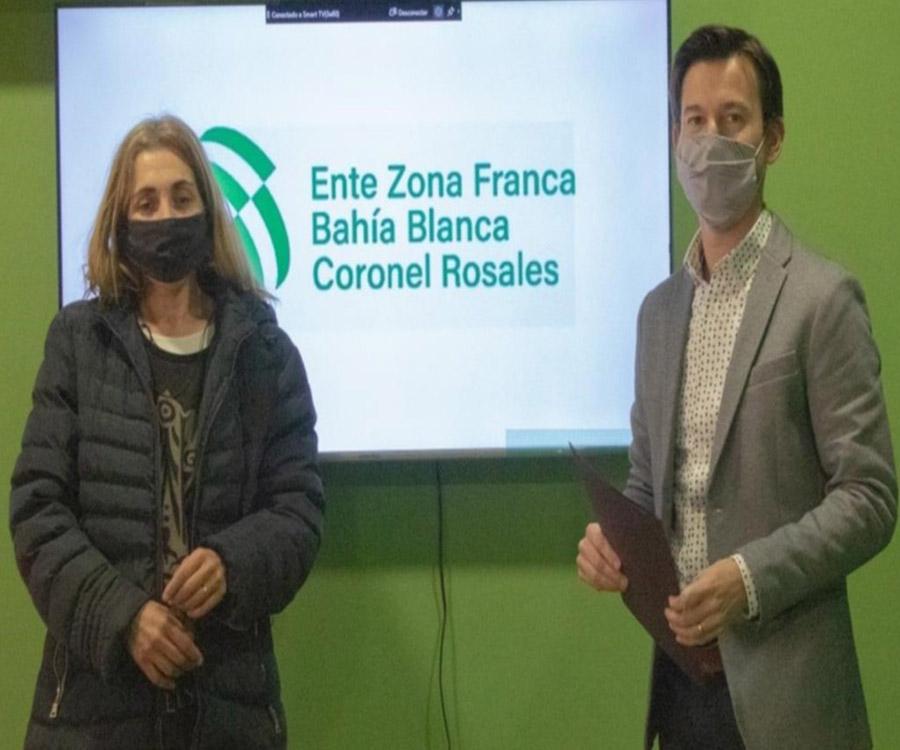 Zonas francas: convenio en Bahía Blanca -Rosales para desarrollar la economía circular