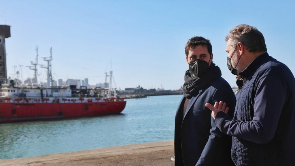 Visita de autoridades portuarias bonaerenses al puerto de Mar del Plata