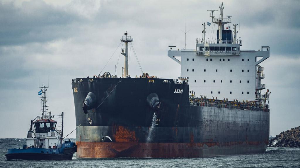Puerto Quequén volvió a operar un buque de 235 metros de eslora