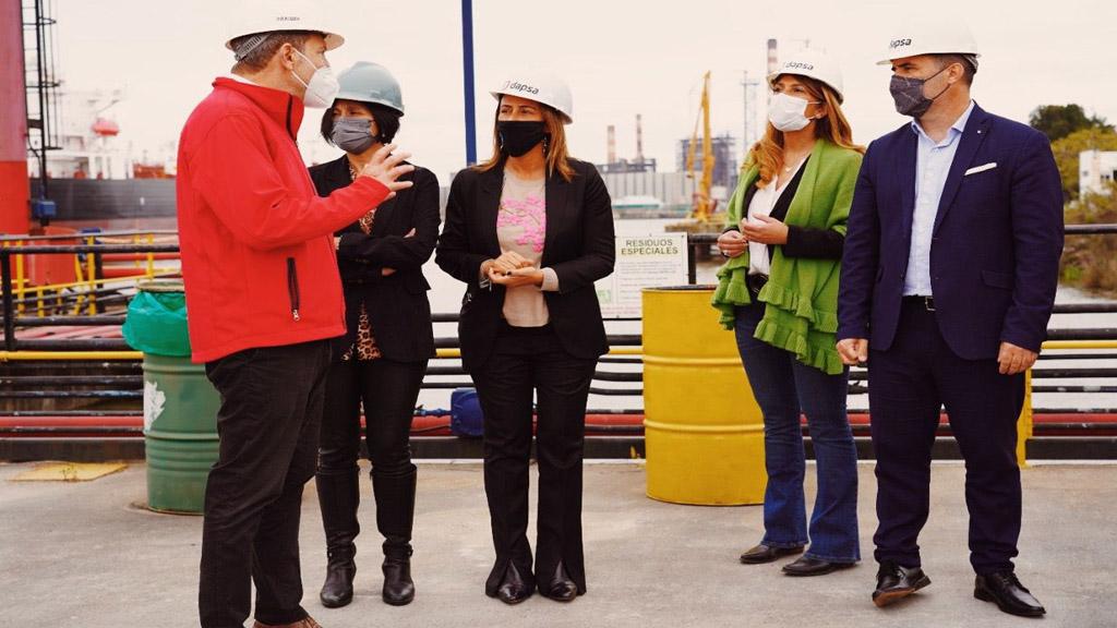 El secretario de Energía supervisó el avance de obras en el puerto de Dock Sud