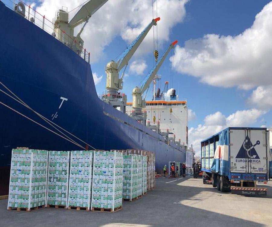 Se concretó desde Campana la exportación de unos 12 mil pallets con cítricos