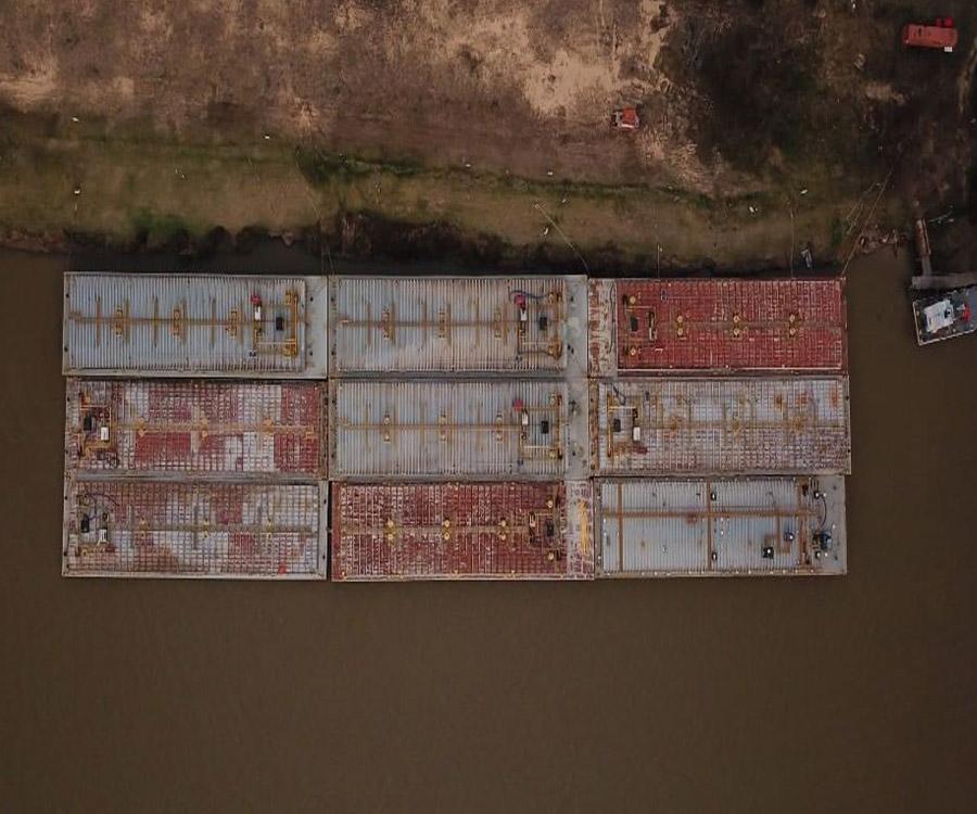 Uruguay proyecta instalar un puerto de barcazas a 6 kilómetros de la represa de Salto Grande