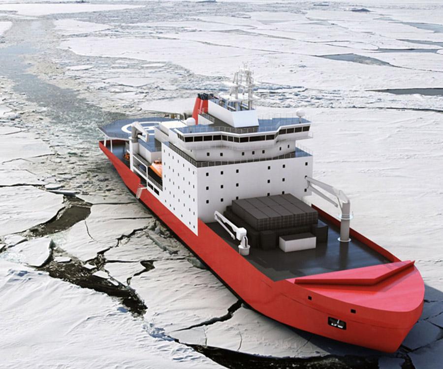 Afirman que el proyecto de construcción de un buque polar argentino continúa a paso firme