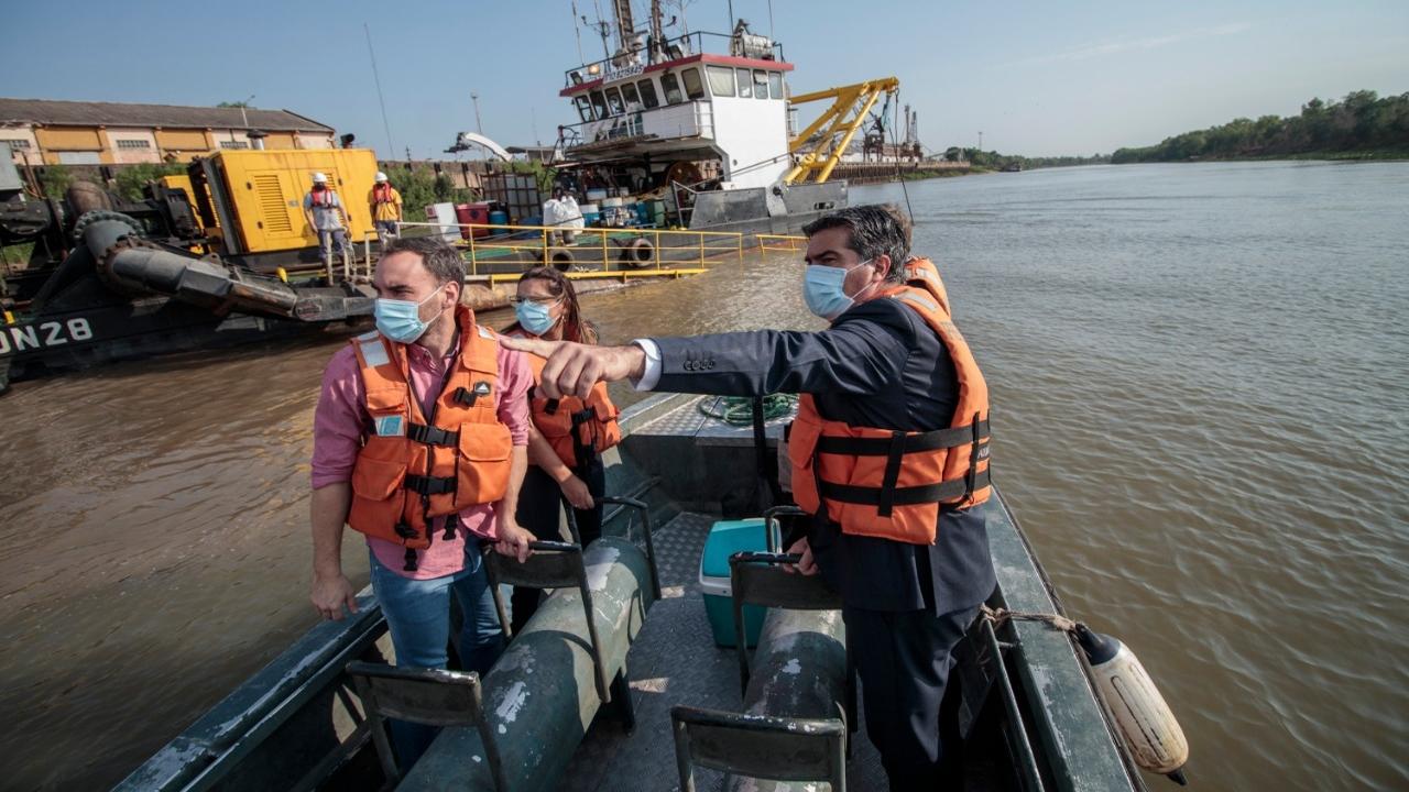 Barranqueras: avanza el dragado de Jan de Nul y Chaco quiere tener dos puertos competitivos