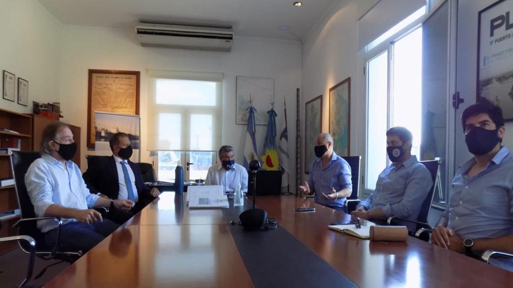 Importante visita de autoridades de Nación y Provincia al puerto La Plata