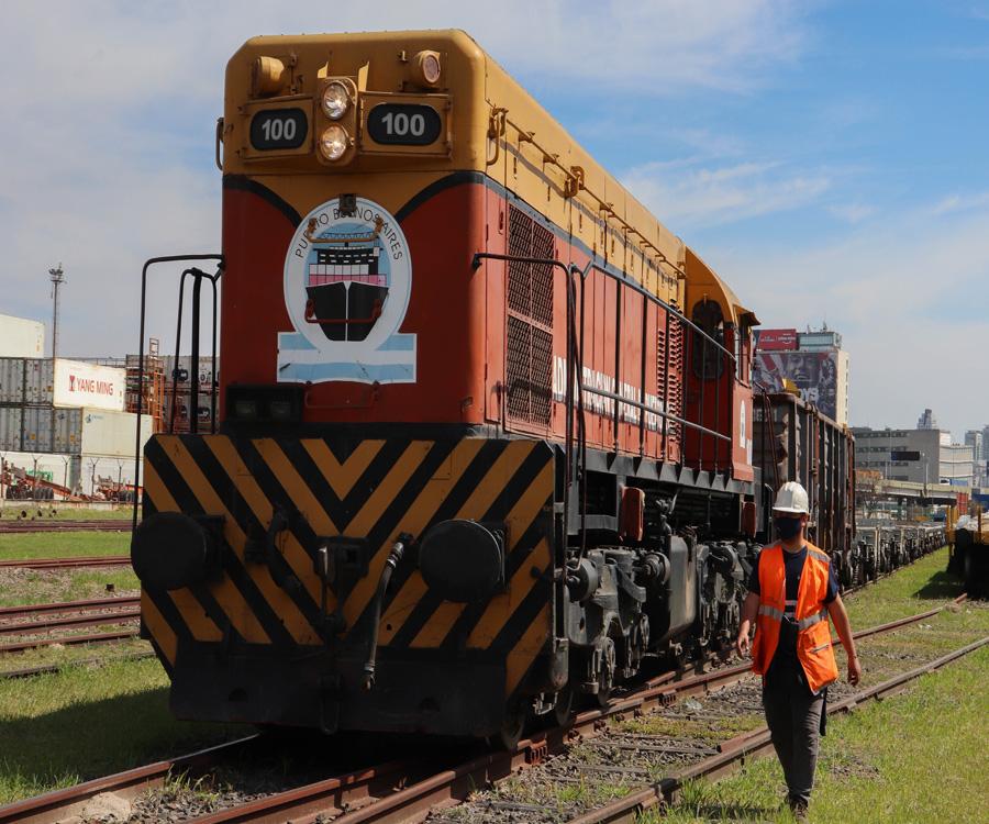 El puerto de Buenos Aires incrementó un 80% el movimiento ferroviario en 2020
