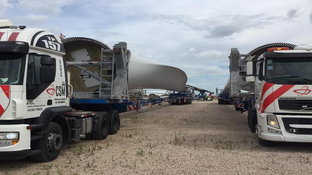 Retiro de grandes equipos eólicos en la zona franca Bahía Blanca – Coronel Rosales