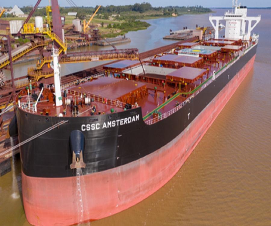 Optimismo en Uruguay por la llegada de buques cada vez más grandes a Nueva Palmira