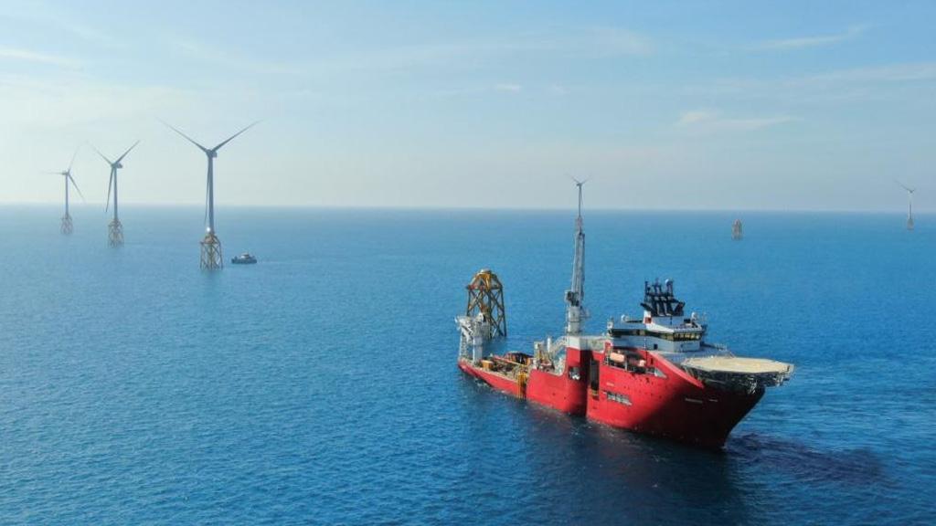 Jan de Nul completó la instalación de turbinas en un parque eólico marino de Taiwán